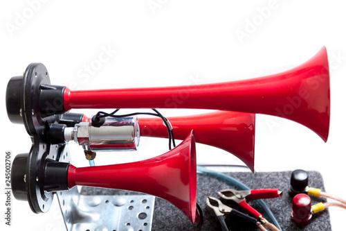 Fotografia, Obraz  Pneumatic horn with red beeps