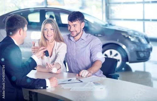Fototapeta Car dealership. obraz na płótnie