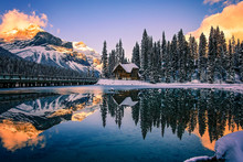 Emerald Lake Lodge At Sunset, ...