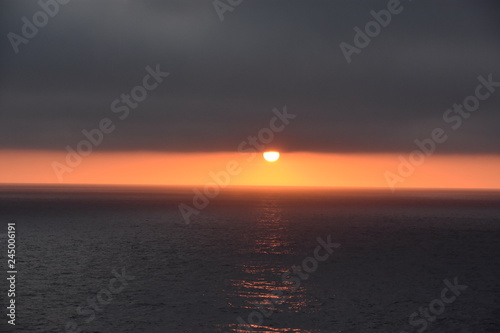 Photo  Sunset over the Pacific Ocean