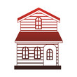 Wooden house real estate red lines