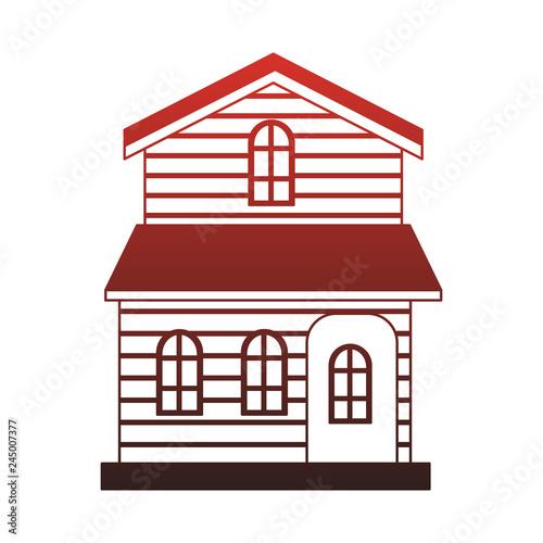 Fototapeta Wooden house real estate red lines obraz na płótnie