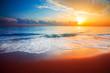 Leinwandbild Motiv sunset and sea