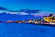 Night View Of Seaside Promenad...