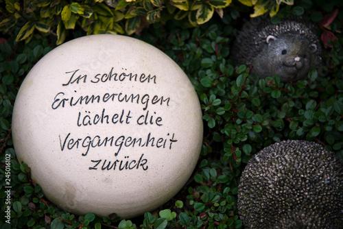 Photo Kugel mit schönem Spruch