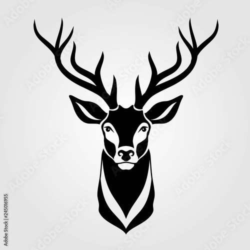 Fotografía Deer icon isolated on white background. Vector illustration.