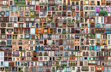 Collage Of Windows Of Every Wo...