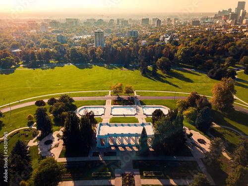Foto  Cheesman Park aerial view