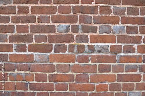Fotografie, Obraz  red rectangle brick wall or masonry or tessellation