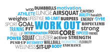 Workout Sport Word Cloud Conce...