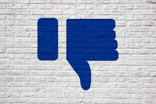 I Dislike Social Media Icon Gr...