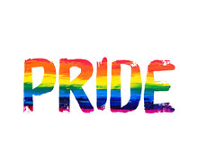 Gay Pride Word Concept