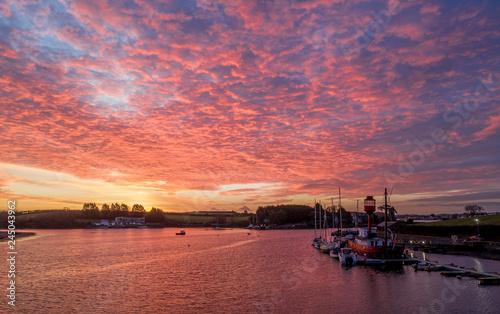 Foto auf AluDibond Koralle Ballydorn Lightship and strangford lough