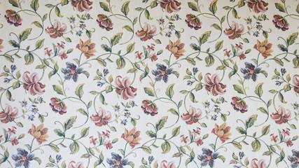 Panel Szklany Podświetlane Vintage Floral wall