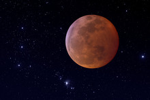 Super Blood Wolf Total Lunar Eclipse Composite