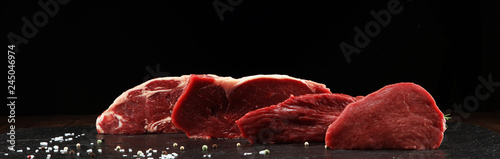 Deurstickers Steakhouse Steak raw. Barbecue Rib Eye Steak, dry Aged Wagyu Entrecote Steak.