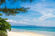 The beach Ban Krut Beach with pine and cloud