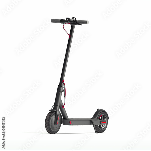 Electric scooter isolated on white background. eco transport. 3d rendering Wall mural