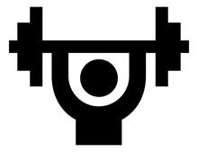 Bodybuilding Barbell Vector Icon