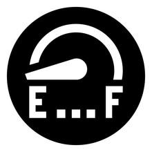 Fuel Gauge Empty Vector Icon.eps
