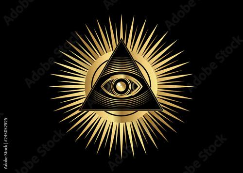 Fotografie, Obraz  Sacred Masonic symbol
