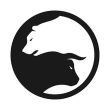 Bull And Bear Vector Logo