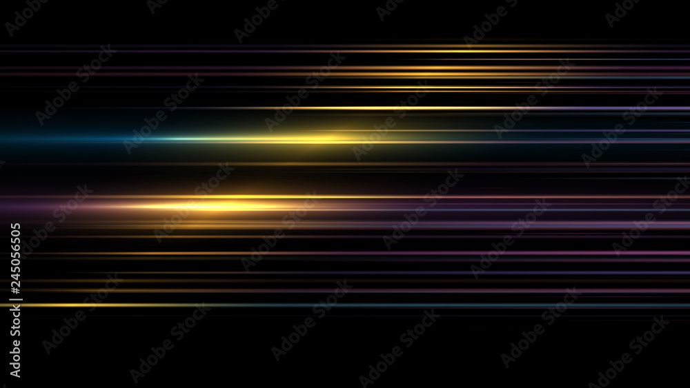 Fototapeta Abstract bright  gold background. elegant illustration.Moving fast neon  golden light particles