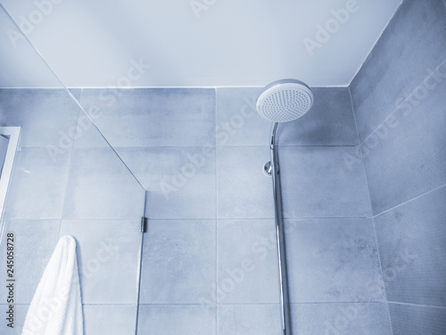 Shower interior with nobody