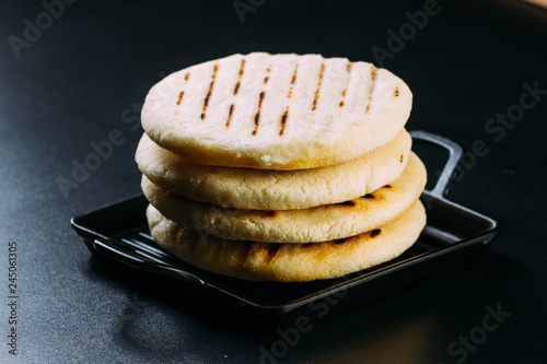 typical breakfast of Venezuela and Colombia, Arepas