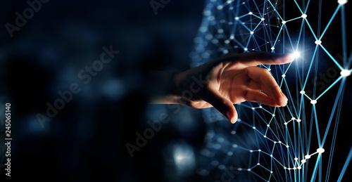 Fotografie, Obraz  Connection technologies background