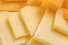 Assortment Of Different Kinds Holland Cheese, Background