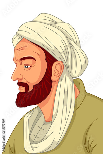 Fotografiet Avicenna Muslim Physician Illustration