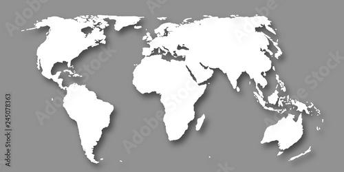 Obraz na plátně  世界 地図 大陸 背景