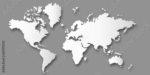 Fototapeta  世界 地図 大陸 背景