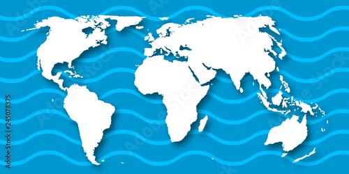 Fotografie, Obraz  世界 地図 大陸 背景