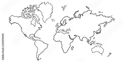 Fotografía  世界 地図 大陸 アイコン
