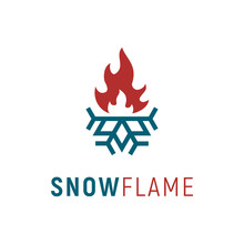 Plumb And Heat / Cold & Hot / Flame & Snowflake Logo Design