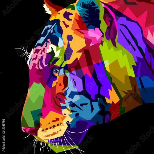 close up head tiger