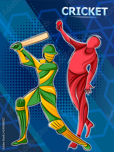 Fotografiet  Player playing cricket sports league tournament championship