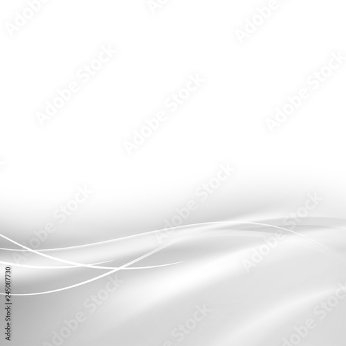 Fototapety, obrazy: Abstract shining gray flow on light background. Vector illustration, contains transparencies, gradients and effects.