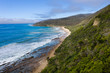 Aerial view of the great ocean road in Victoria Australia, one of the world's most spectacular ocean drives