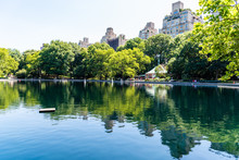 Model Sailboats On The Conservatory Water In Central Park
