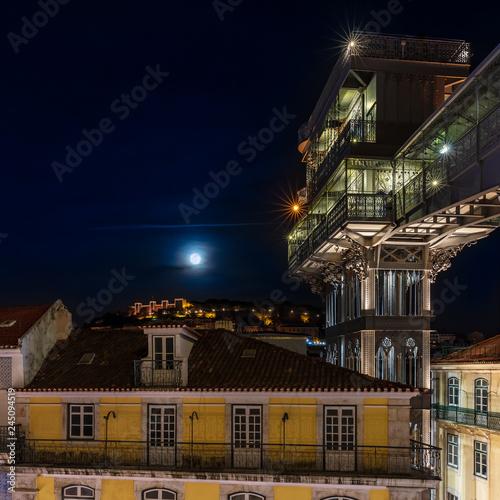 Spoed Foto op Canvas Centraal Europa Elevator of Santa Justa