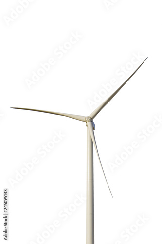 Fotografía  Studio cut out of wind turbine against white background
