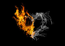 Fire And Water Collaboration Heart