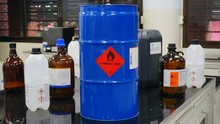 Blue Color Hazardous Dangerous...