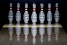Ten Pin Bowling Alley Backgrou...