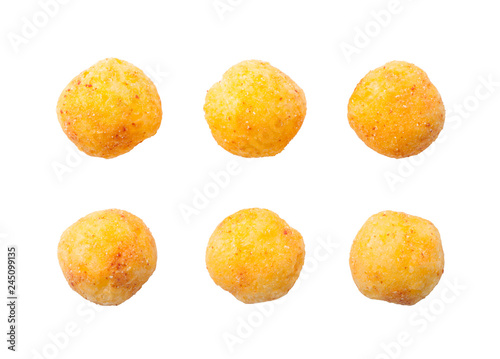 cheese balls isolated on white background Canvas-taulu