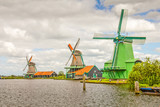 Landscape in The Netherlands with windmills - 245119121