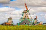Landscape in The Netherlands with windmills - 245119135